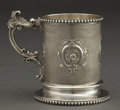 Silver Holloware, American:Cups, A GEORGE SHARP ENGINE TURNED SILVER MUG FOR BAILEY & CO. .George B. Sharp, Philadelphia, Pennsylvania, circa 1900. Marks:(...