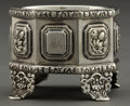 Silver Holloware, American:Open Salts, AN AMERICAN COIN SILVER OCTAGONAL SALT . Maker unknown, American,circa 1880. Marks: L&W. 2 inches high (5.1 cm). 2.7tr...