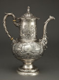 Silver & Vertu:Hollowware, A BAILEY & CO. SILVER COFFEE POT . Bailey & Co., Philadelphia, Pennsylvania, circa 1859-1878. Marks: BAILEY & CO., CHESTNU...