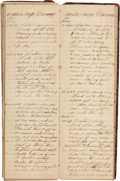 Autographs:Military Figures, U.S. Steamer Cecil Journal Written during the Final Two Years of the Civil War....