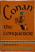 Books:Science Fiction & Fantasy, Robert E. Howard. Conan the Conqueror. The HyboreanAge. New York: Gnome Press, Inc., Publishers, [1950]. First ...