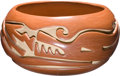 American Indian Art:Pottery, A SANTA CLARA CARVED REDWARE JAR. Teresita Naranjo. c. 1970...
