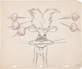 animation art:Production Drawing, Slap Happy Lion Animation Production Drawing Original Art(MGM, 1947)....