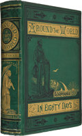 Books:First Editions, Jules Verne. Around the World in Eighty Days. Boston:James R. Osgood, 1874. First American illustrated edition....