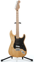 Musical Instruments:Electric Guitars, Recent Fender Korean Stratocaster Natural Solid Body ElectricGuitar #04072624...