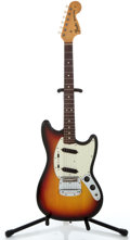 Musical Instruments:Electric Guitars, 1971 Fender Mustang Sunburst Solid Body Electric Guitar #340649...