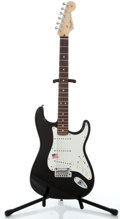 Musical Instruments:Electric Guitars, 2007 Fender VG USA Stratocaster Black Solid Body Electric Guitar #Z 7041880...