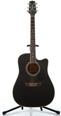 Musical Instruments:Acoustic Guitars, Takamine PF 341C Black Acoustic Electric Guitar #93091423...