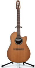 Musical Instruments:Electric Guitars, Ovation Celebrity CC059 Natural Acoustic Electric Guitar#8112795...