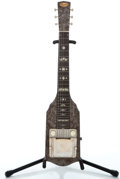 Musical Instruments:Lap Steel Guitars, 1951 Supro MOTS Brown Lap Steel Guitar, #V37809....
