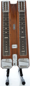 Musical Instruments:Lap Steel Guitars, 1950's Fender professional Double 8 Walnut Lap Steel Guitar #1107...