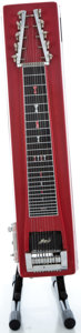 Musical Instruments:Lap Steel Guitars, MSA 10-String Sidekick Red Pedal Steel Guitar ...