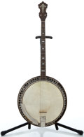 Musical Instruments:Banjos, Mandolins, & Ukes, 1900's Vintage Model Project Sunburst Tenor Banjo....