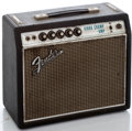 Musical Instruments:Amplifiers, PA, & Effects, 1968-69 Fender Vibro Champ Silverface Guitar Amplifier #A22023...