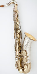 Musical Instruments:Horns & Wind Instruments, 1960's King Super 20 Silver-Sonic Two-Tone Tenor Saxophone #423663...