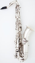 Musical Instruments:Horns & Wind Instruments, 1920's Martin Low Pitch Handcraft Silver Alto Saxophone #58618...