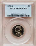 Proof Jefferson Nickels: , 1973-S 5C PR69 Deep Cameo PCGS. PCGS Population (2440/0). NGCCensus: (21/0). Numismedia Wsl. Price for problem free NGC/P...