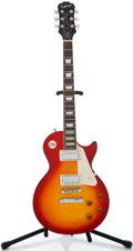 Musical Instruments:Electric Guitars, Recent Epiphone Les Paul Standard Cherry Burst Solid Body ElectricGuitar #EE070608139...