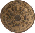American Indian Art:Baskets, AN APACHE PICTORIAL COILED BOWL. c. 1890...