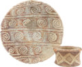 American Indian Art:Pottery, TWO HOHOKAM RED-ON-WHITE POTTERY ITEMS. c. 200 B.C. - 1450 A.D....(Total: 2 Items)