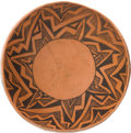 American Indian Art:Pottery, A PINEDALE BLACK-ON-RED BOWL. c. 1250 A.D....