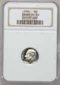 Proof Roosevelt Dimes: , 1964 10C PR69 Cameo NGC. NGC Census: (374/0). PCGS Population(296/1). Numismedia Wsl. Price for problem free NGC/PCGS coi...