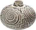 American Indian Art:Pottery, A TULAROSA BLACK-ON-WHITE JAR. c. 1250 A.D....