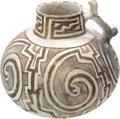 American Indian Art:Pottery, A TULAROSA BLACK-ON-WHITE PITCHER. c. 1250 A.D....
