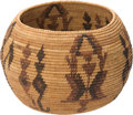 American Indian Art:Baskets, A MONO LAKE POLYCHROME COILED BOWL . c. 1915...