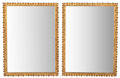 Furniture , PAIR OF NEOCLASSICAL STYLE GILT BRONZE MIRRORS . 20th century. 34 x 25 inches (86.4 x 63.5 cm). ... (Total: 2 Items)
