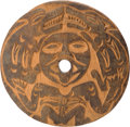 American Indian Art:Wood Sculpture, A COWICHAN CARVED WOOD SPINDLE WHORL. c. 1920...