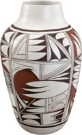 American Indian Art:Pottery, A HOPI POLYCHROME JAR. Joy Navasie. c. 1980...