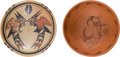 American Indian Art:Pottery, TWO HOPI POTTERY BOWLS. c. 1940 and 1973... (Total: 2 Items)