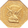 Territorial Gold, 1851 $50 RE Humbert Fifty Dollar, Reeded Edge, 887 THOUS. AU50 NGC.K-6, R.4....