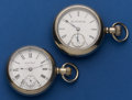 Timepieces:Pocket (post 1900), Two Pocket Watches Columbus & Elgin 18 Size. ... (Total: 2 Items)