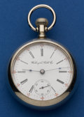 Timepieces:Pocket (post 1900), Washington Watch Co. 17 Jewel Liberty Bell By Illinois. ...