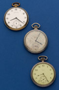 Timepieces:Pocket (post 1900), Hamilton, Gruen & Elgin Pocket Watches. ... (Total: 3 Items)