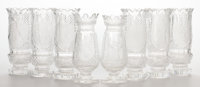EIGHT WATERFORD VASES WITH INTAGLIO BIBLICAL SCENES England, circa 1975 Marks to Samson vase: T. Cooke Wate