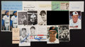 Baseball Collectibles:Others, Baseball Greats Signed Memorabilia Lot of 16....