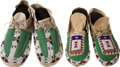 American Indian Art:Beadwork and Quillwork, TWO PAIRS OF SIOUX BEADED HIDE MOCCASINS. c. 1900... (Total: 2 Pair)