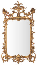 Furniture , PAIR OF ROCOCO STYLE GILT WOOD MIRRORS . France, circa 1900. 57 x 31-1/2 x 3 inches (144.8 x 80.0 x 7.6 cm) (each). ... (Total: 2 Items)