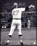 Baseball Collectibles:Photos, 1975 Boston Red Sox Team Signed Oversized Photograph....