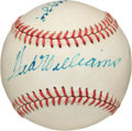 Baseball Collectibles:Balls, Joe DiMaggio and Ted Williams Multi Signed Baseball....