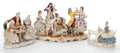 Ceramics & Porcelain, GROUP OF THREE GERMAN PORCELAIN FIGURAL GROUPS . Marks to largest: (crown) N, DRESDEN. 9-1/4 inches high (23.5 cm) (tall... (Total: 3 Items)