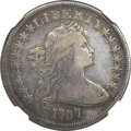 Early Dollars, 1797 $1 9x7 Stars, Large Letters -- Obverse Repaired -- NGCDetails. VF. B-1, BB-73, R.3....