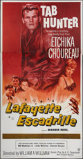 "Movie Posters:War, Lafayette Escadrille (Warner Brothers, 1958). Three Sheet (41"" X81""). War.. ..."