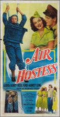 "Movie Posters:Adventure, Air Hostess (Columbia, 1949). Three Sheet (41"" X 79""). Adventure....."