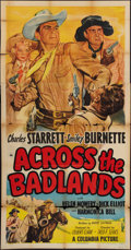 "Movie Posters, Across the Badlands & Other Lot (Columbia, 1950). Three Sheets (2) (41"" X 81"").. ... (Total: 2 Items)"