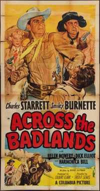 "Across the Badlands & Other Lot (Columbia, 1950). Three Sheets (2) (41"" X 81""). ... (Total: 2 Items)"