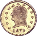 California Fractional Gold, 1872 25C Washington Round 25 Cents, BG-818, Low R.4, MS66 PCGS....